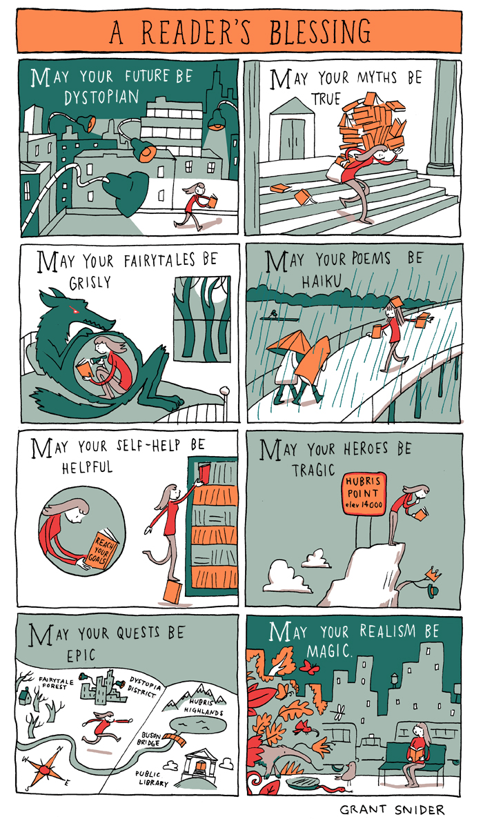 A Reader's Blessing by Grant Snider